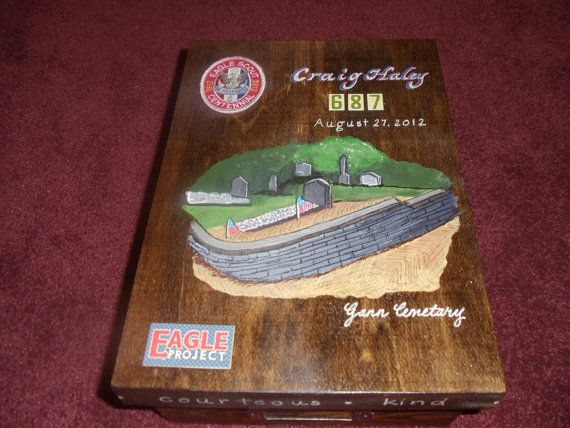 Eagle Scout handpainted gift box personalized by fancywriting #eaglescout #boyscouts