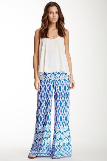 Printed Wide Leg Pant by Romeo & Juliet Couture on @HauteLook