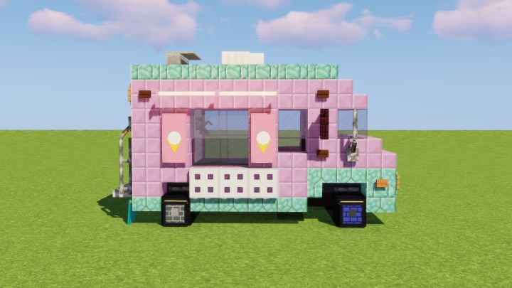 Ice Cream Truck Minecraft Project Minecraft Projects Minecraft Creations Minecraft Crafts