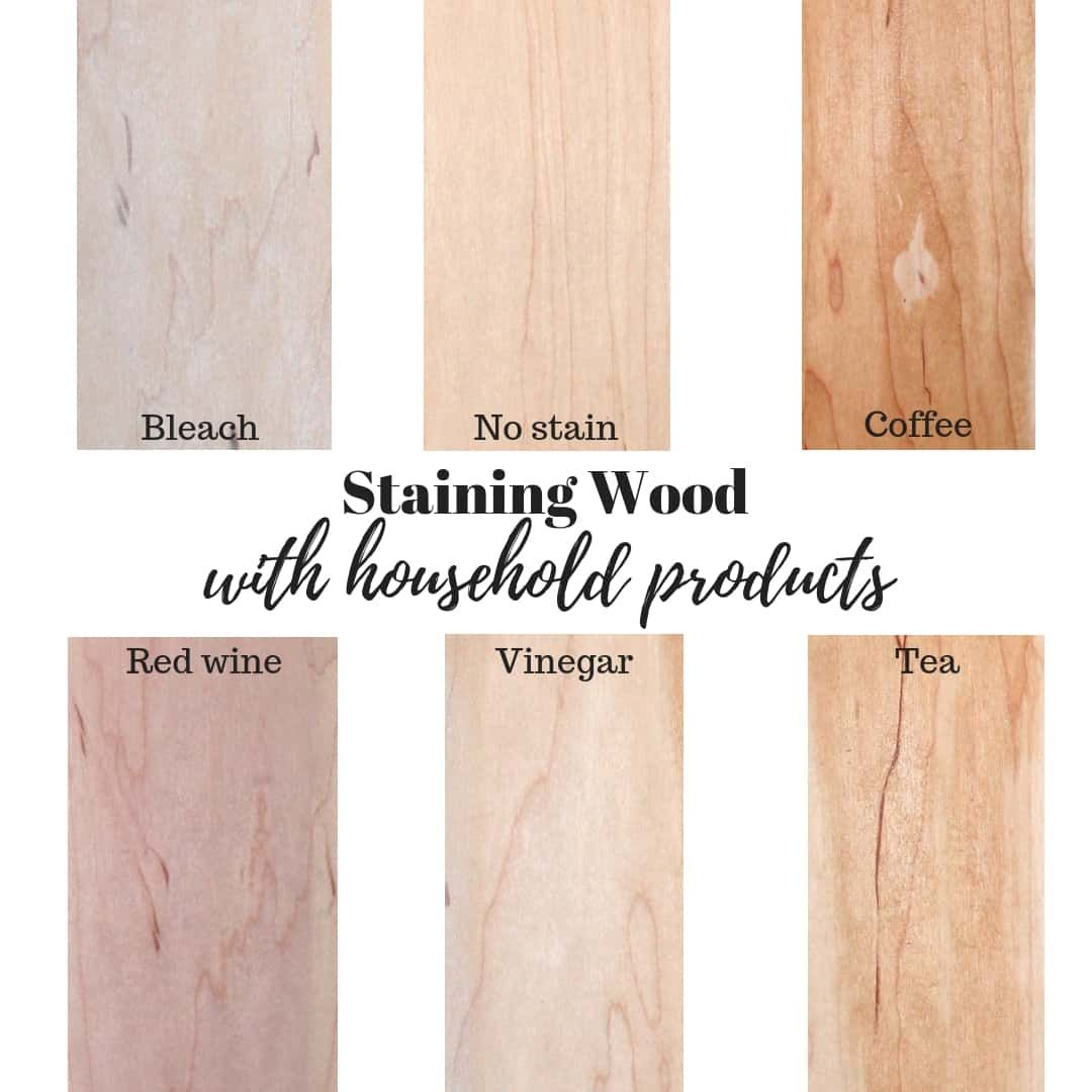 Staining Wood With Household Products Natural Stain Wood Staining Wood Stain Wood With Coffee