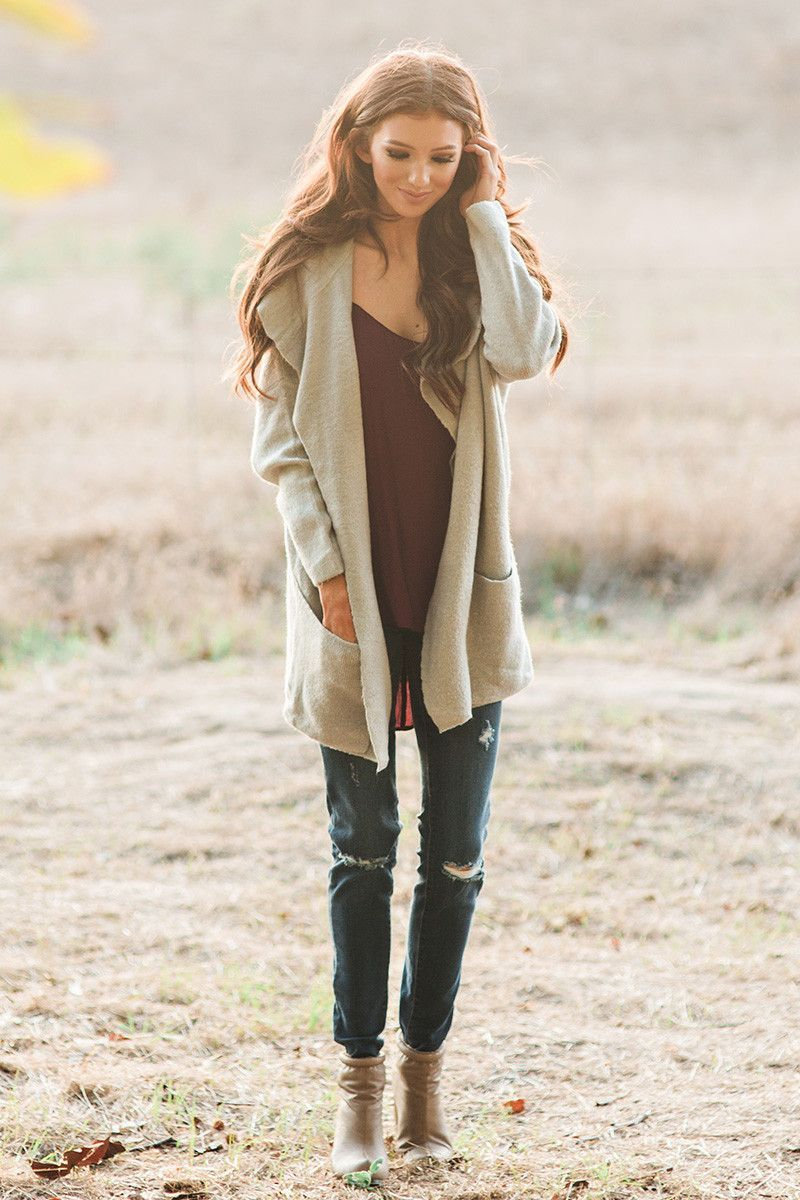 Cute sweaters, cute cardigans, gray cardigan, fall fashion, winter ...