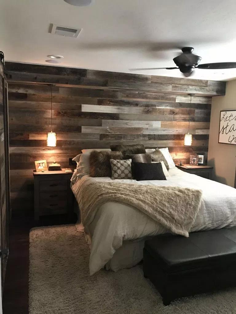 43 Smart Ways To Rustic Home Decor Ideas 2021 Bong Pret Small Master Bedroom Rustic Bedroom Design Master Bedroom Makeover