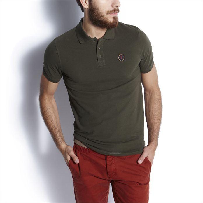 Polo piqué Vert Foncé homme – la mode homme sur Jules.com