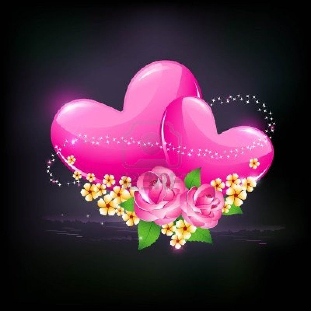 hearts and flowers background - Google Search | 1 Hearts&Love ...