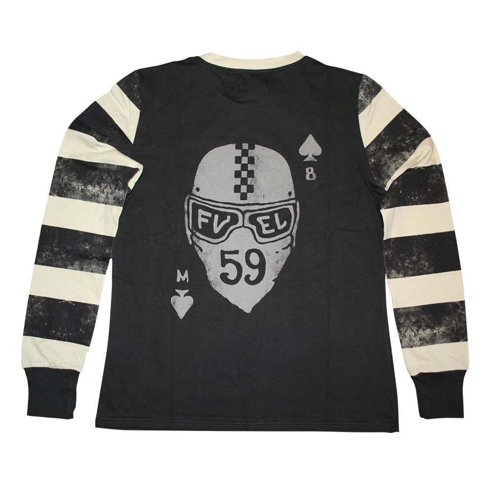 Fuel Bespoke Motorcycles Stripe Longsleeve T Shirt (With