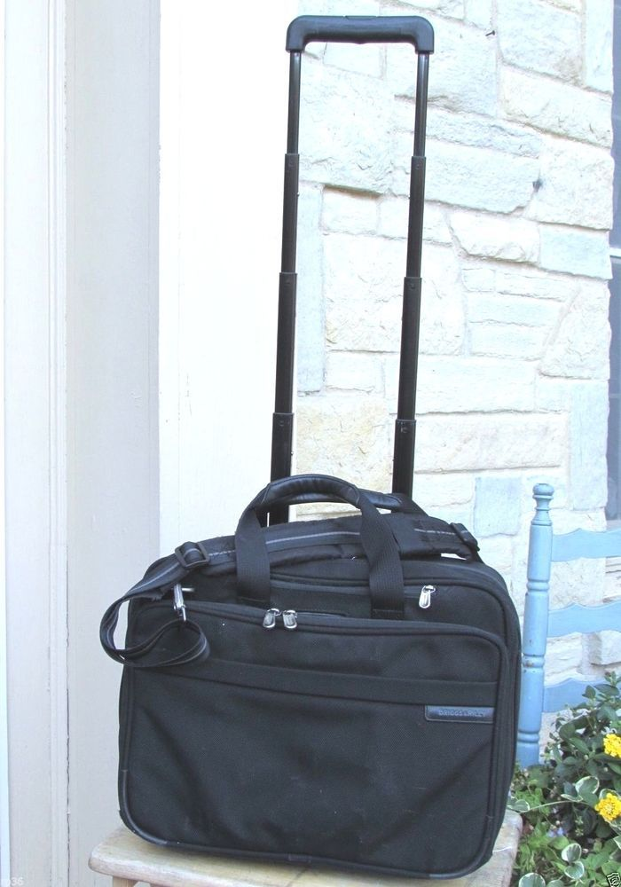 Briggs & Riley BR212 Rolling Computer Carry-on 17x13x8 Briefcase ...