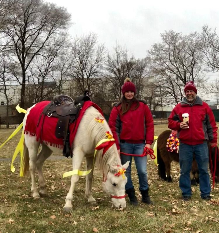 Winter pony party fun mobile petting zoo pony rides