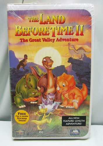 The Land Before Time 2 The Great Valley Adventure Vhs