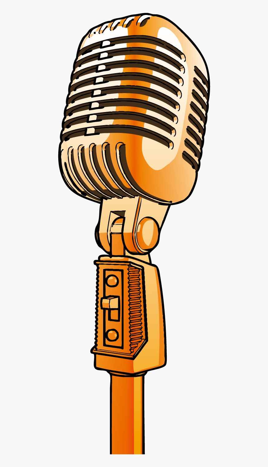Transparent Mic Vector Png Gold Microphone Clipart Png Download Is Free Transparent Png Image To Explore More Similar In 2021 Microphone Images Microphone Clip Art