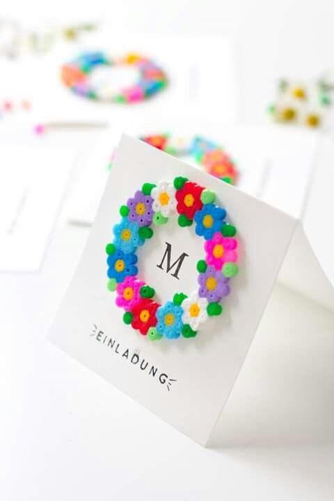 blumen aus b gelperlen alltagspoesie perler beads diy cards und hama beads. Black Bedroom Furniture Sets. Home Design Ideas
