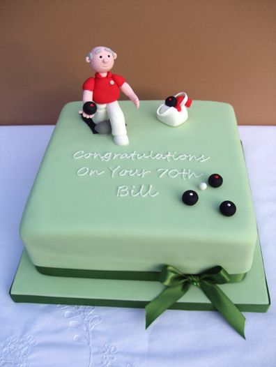 Lawn Bowls Cake Figurines