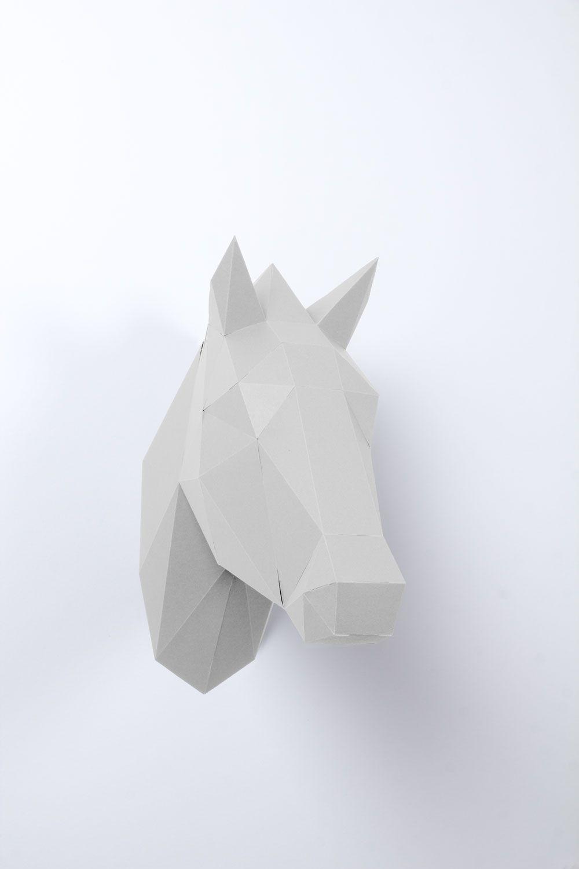 Pferdekopf 3d Pferdekopf 3d Origami Pferd Papier Tiere