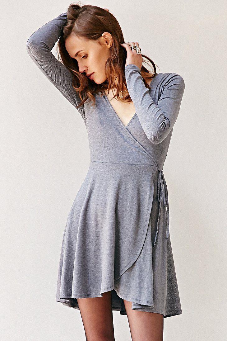 Kimchi Blue Surplice Wrap Dress Urban Outfitters Spring Dress Trends Trending Dresses Pretty Spring Dresses [ 1095 x 730 Pixel ]