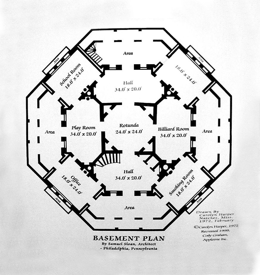 Nutt S Folly Longwood Mansion Basement Floor Plan Architectural Floor Plans Floor Plans Mansion Floor Plan