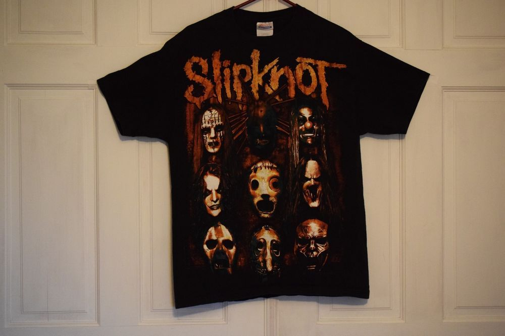 Slipknot T-shirt LARGE Size L (42-44) Heavy Metal band Tee Hanes Heavyweight #Hanes #GraphicTee