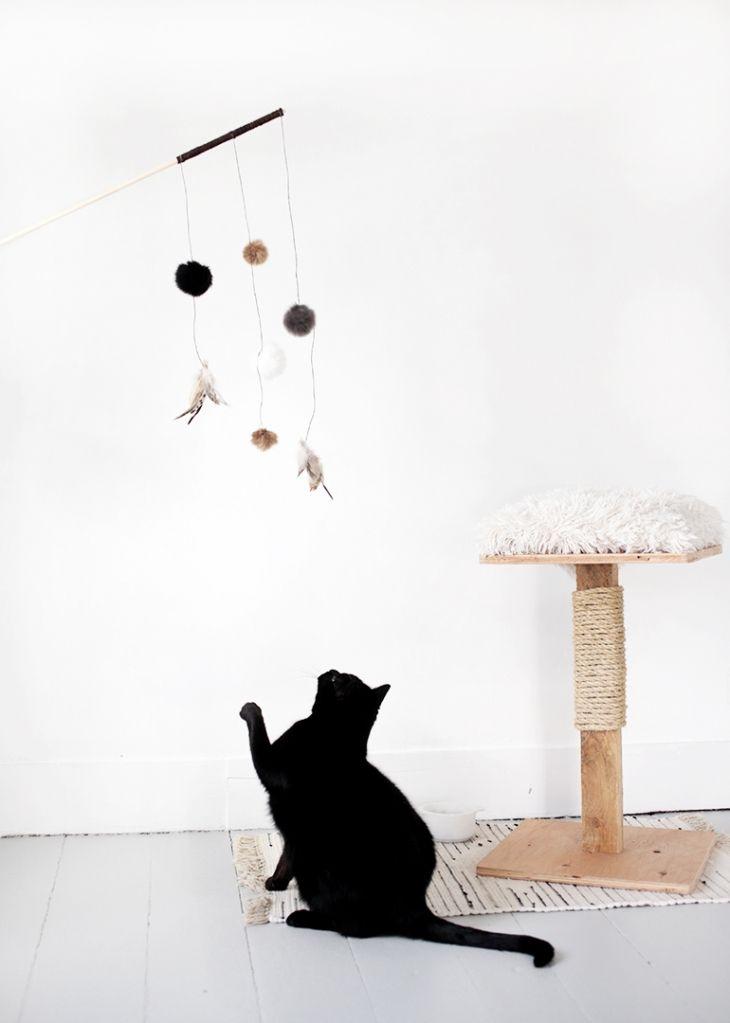 Diy cat toy katzen spielzeug kratzbaum und hund katze