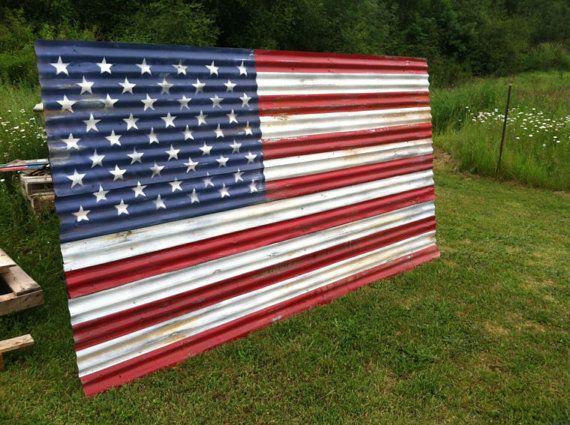 Huge Rustic American Flags Barn Metal Flags Rustic Flag Etsy Rustic American Flag Metal Flag Rustic Flags