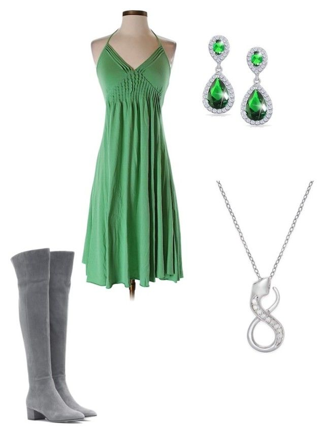 """""""Dress"""" by nightgamer ❤ liked on Polyvore featuring Aqua, Gianvito Rossi and Bling Jewelry"""