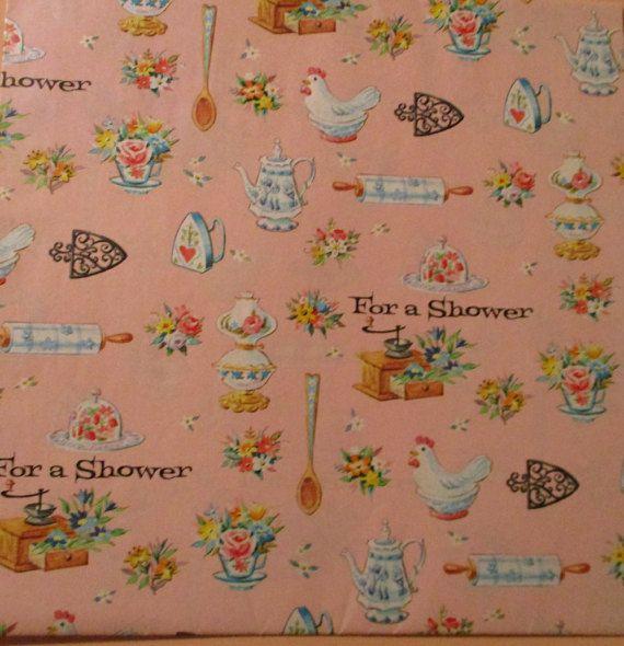 Vintage papel  regalos de la ducha