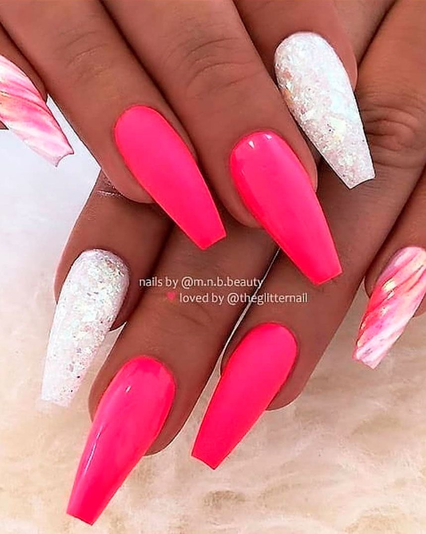 120 Best Coffin Nails Ideas That Suit Everyone Coffin Nails Long Long Acrylic Nails Pink Acrylic Nails