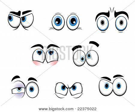 Ojos graciosos de dibujos animados  Dibujos  Pinterest  Rock