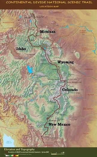 Continental Divide National Scenic Trail    Montana to