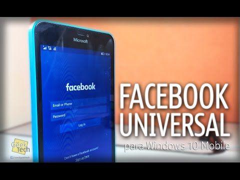 Novo Facebook oficial para Windows 10 Mobile - YouTube