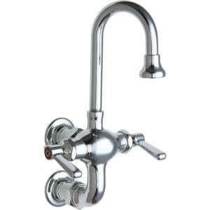 Chicago Faucets, 2 Handle Kitchen Faucet In Chrome With 3 3/8