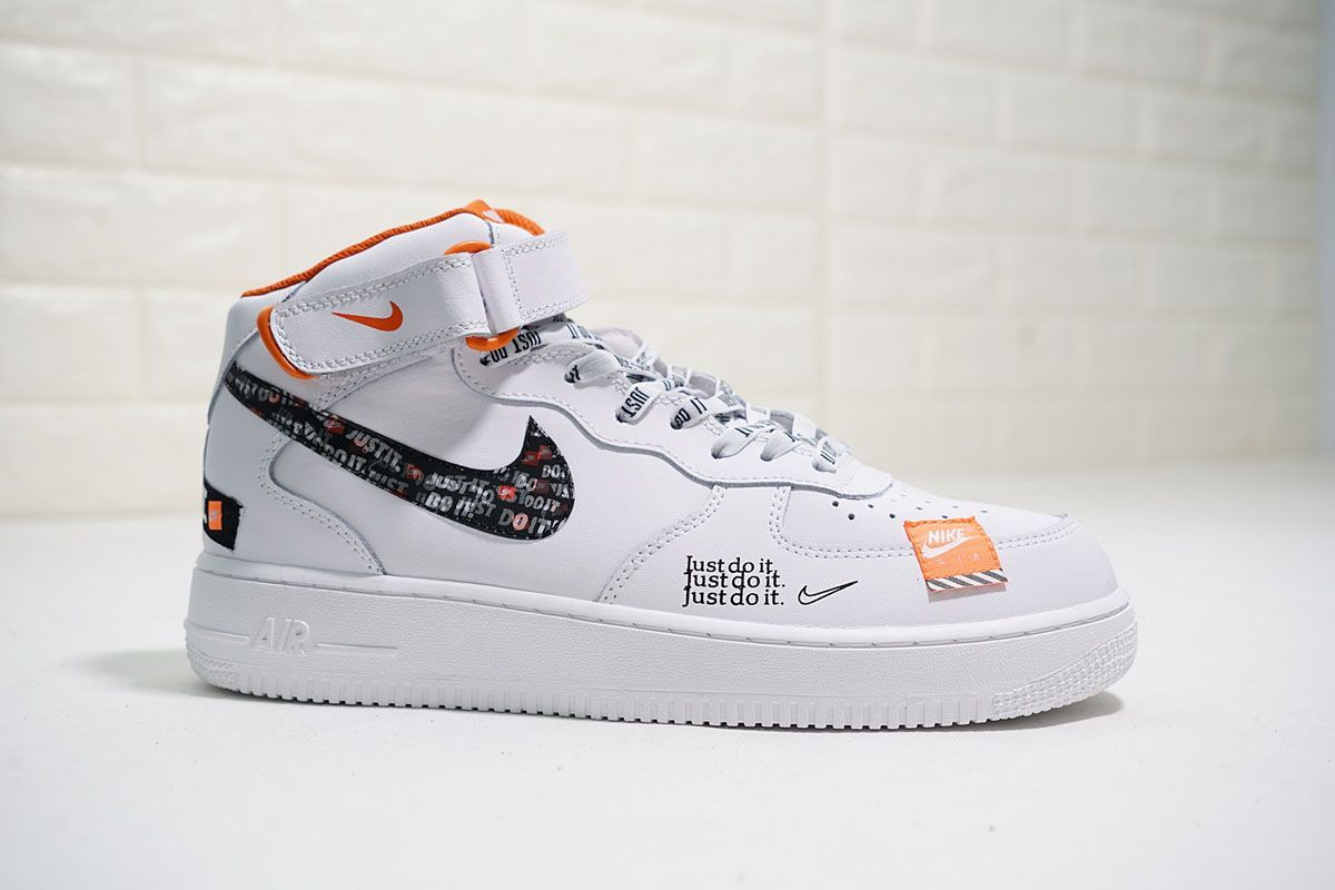 air force shoes black with orange dots