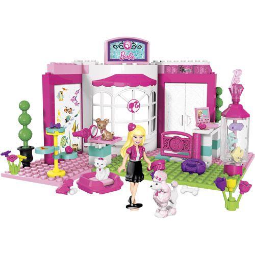Lego Beach House Walmart: Mega Bloks Barbie Build 'n Style Pet Shop Play Set
