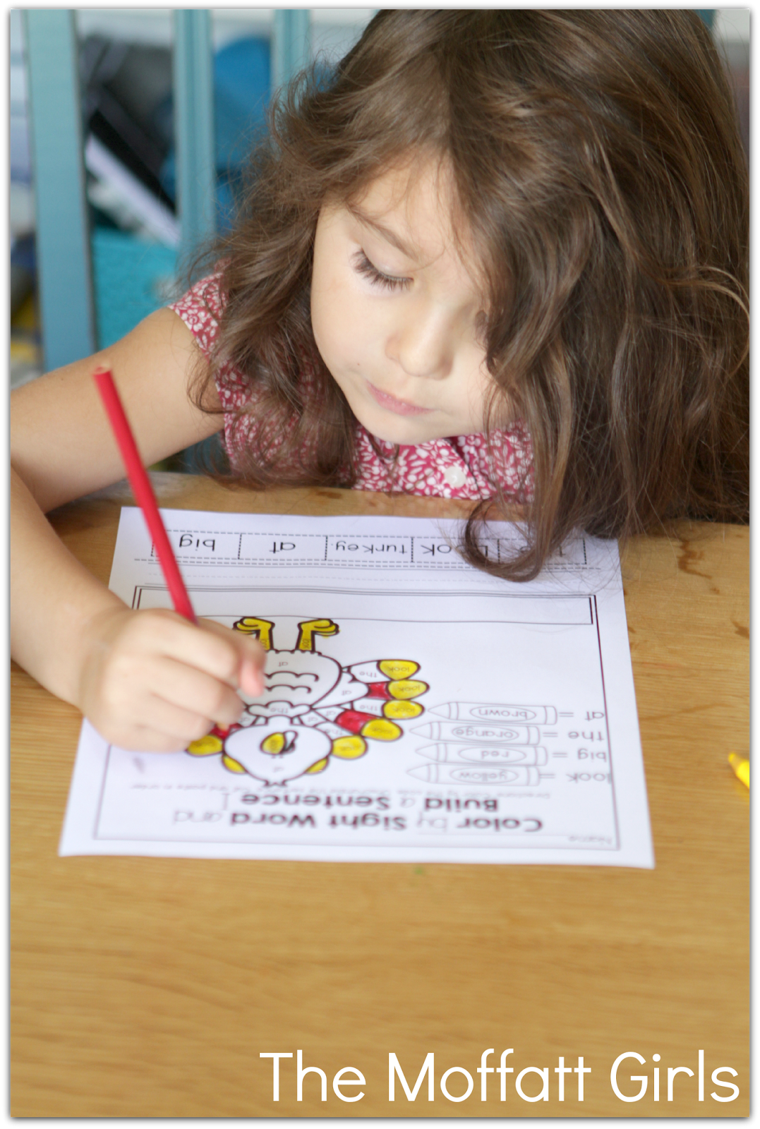 Color By Sight Word Exercise Thanksgiving No Prep Packet