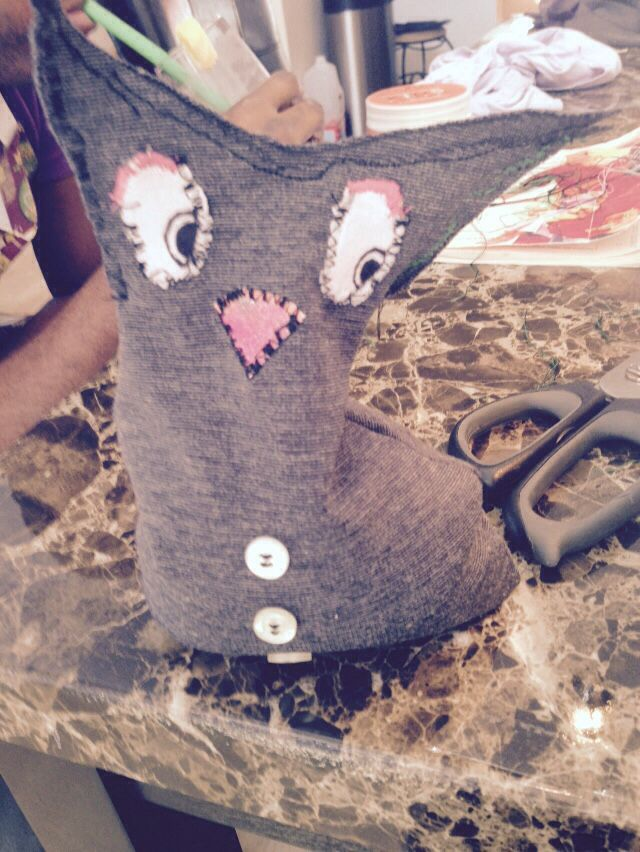 Pinterest fail...should have been an owl...not sure what it turned out to be :/