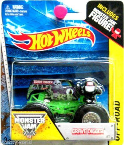 Grave Digger Hot Wheels Monster Jam 2014 Monster Jam Figure Included NEW LOOK