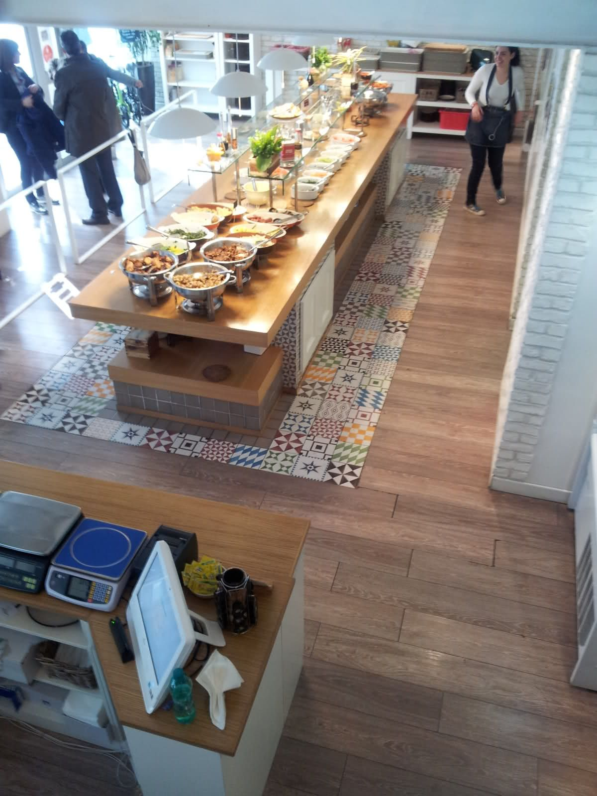 parquet in cucina con inserto piastrelle - Cerca con Google | Idee ...