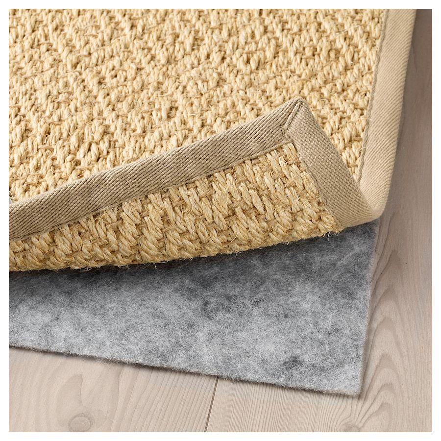 Lavare Tappeto Lana Ikea vistoft tappeto, tessitura piatta - naturale 170x240 cm