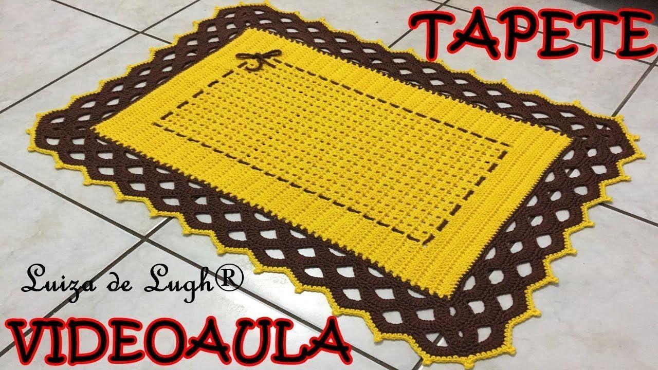 TAPETE RETANGULAR (BICO ARCOS) # Luiza de Lugh® | Tapetes ...