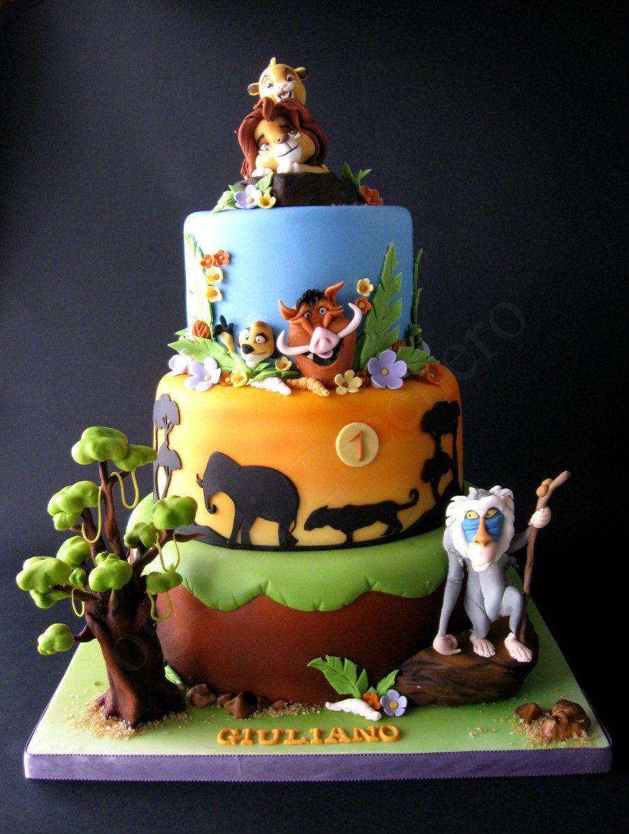 Gteau le roi lion Tartas Pinterest Cake Lions and Birthdays