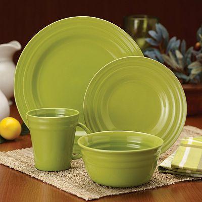 Rachael Ray Double Ridge Green Dinnerware Collection-Fiestaware ...