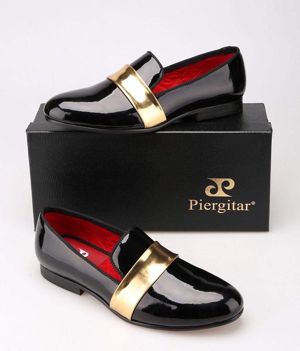 8d56f7f1db7 The product Handmade Men s Leather Loafers with Gold Patent Leather Buckle  is sold by Piergitar Shoes in our Tictail store. Tictail lets you create a  ...