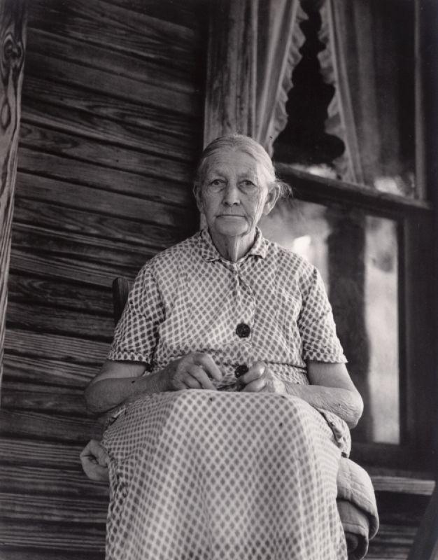 "Dorothea Lange, ""Ma Graham, An Arkansas Hoosier Born in 1855, Conway, Arkansas"", 1938, Gelatin silver print."