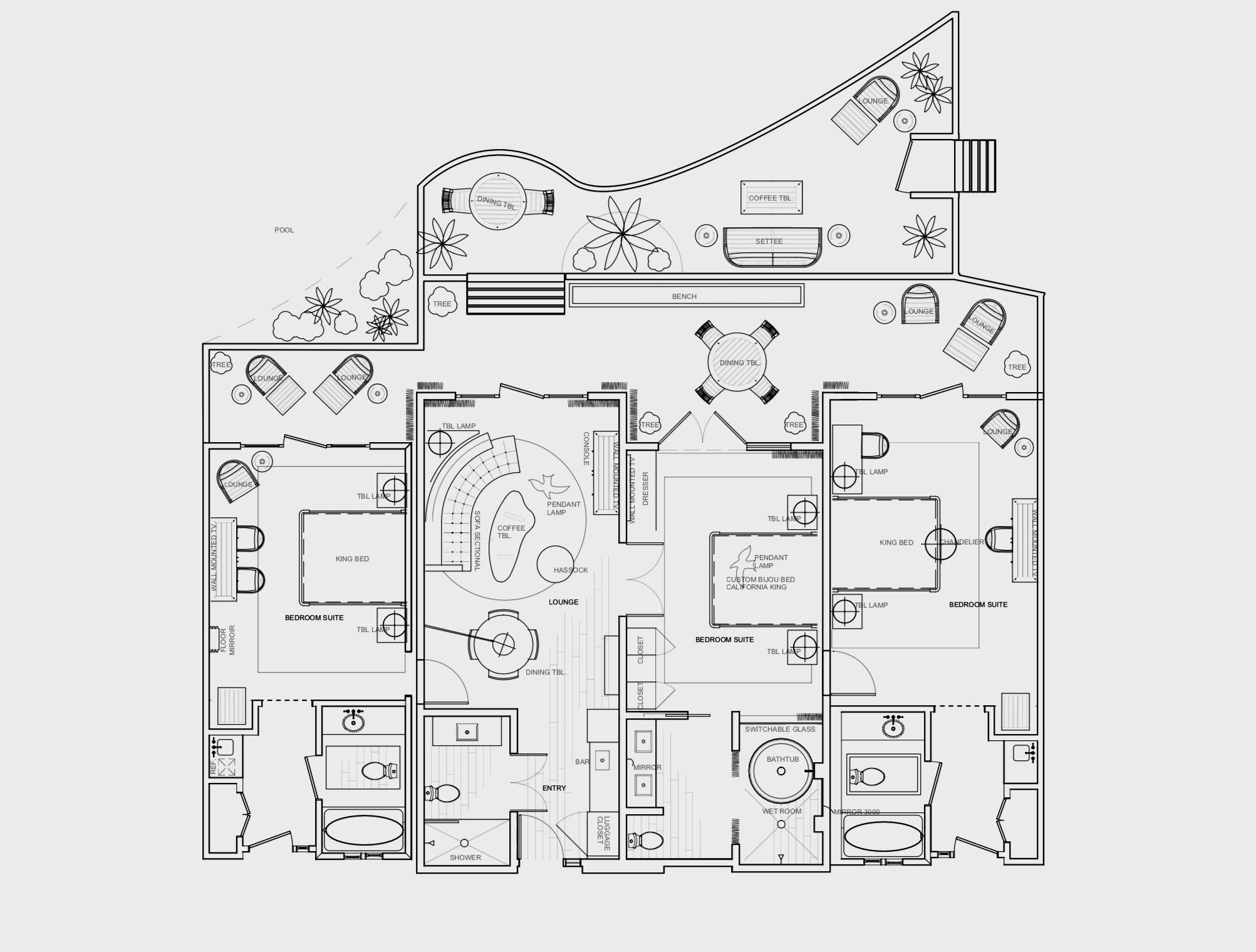 Pin On Floor Plan Hotel Suite