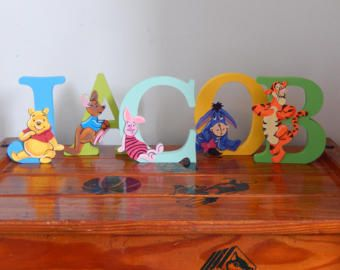 Winnie the pooh handmade characters3d letter personalised gift winnie the pooh handmade characters3d letter personalised gift disney letters negle Image collections