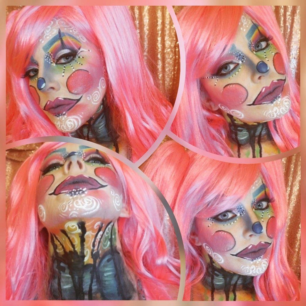 Rainbow Jester makeup