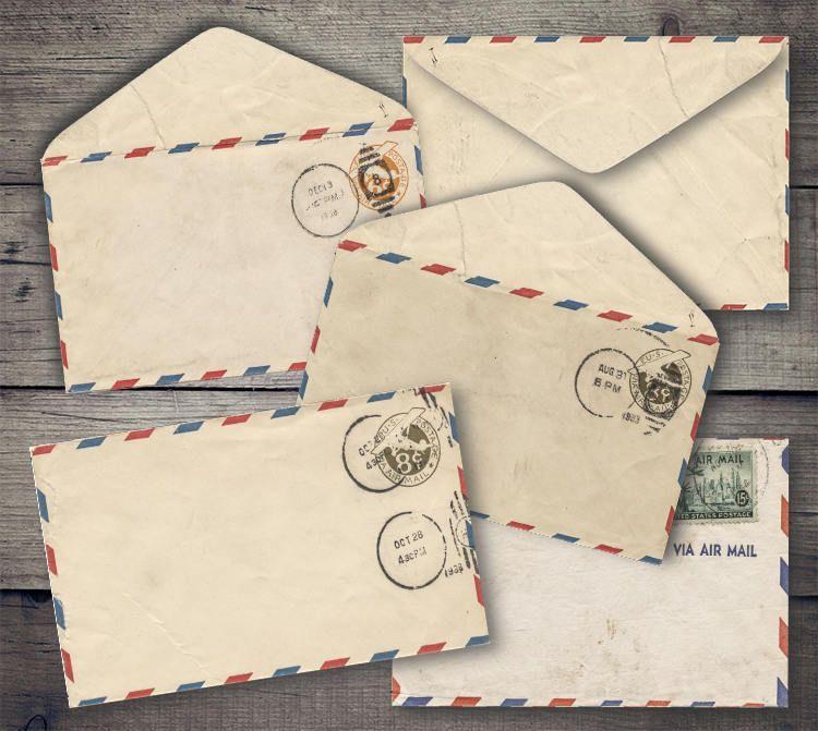 Vintage Air Mail Envelopes Digital Collage Sheet Printables Etsy Digital Collage Sheets Digital Collage Collage Sheet