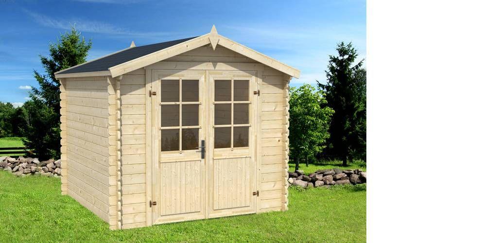 Abri de jardin AUSTIN 6,5 m² - 28mm | Revêtement en feutre ...