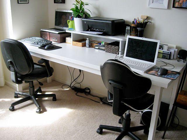 Diy Desk Desk For Two Computer Desk Design Diy Desk Plans