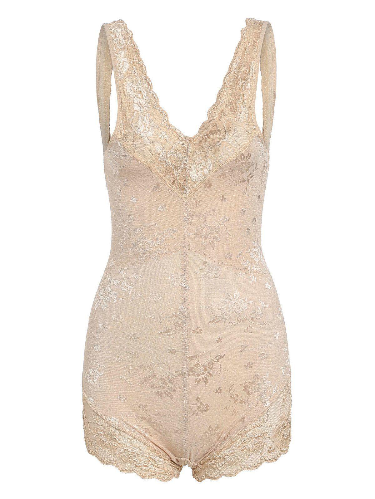 e0c54d2b01 Lingerie   Sleepwear by BORNTOWEAR. Flower Pattern Lace Insert Shaping  Bodysuit