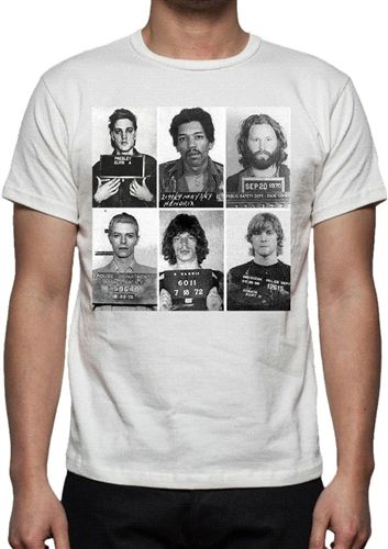 0eb326ed Rock n Roll Mugshots T-Shirt - Music Band Legends All Colours & Sizes Personalised  Custom London Tshirt Printing Company customised print printed DTG vinyl ...