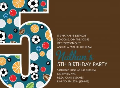 Download Now 5th Birthday Invitation Wording Ideas