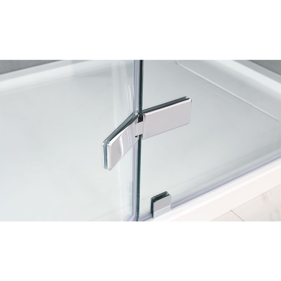 Ove Decors Shower Doors Shop Ove Decors Shelby 47 In To 48 In Polished Chrome Frameless